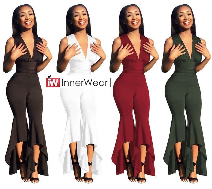 Deep-V Summer Full Bodysuit Bodies Woman Sexy Club Party Jumpsuit  PRICE: $24.12  #Deep-V #Summer #Full #Bodysuit #Bodies #Woman #Sexy #Club #Party #Jumpsuit