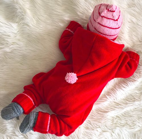 Baby-Overall aus altem Pullover #farbenmix #zwergenverpackung