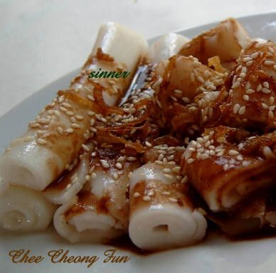 The Waitakere Redneck's Kitchen: Chee Cheong Fun with Thim Jeong ~ Steam Rice Rolls w' Sweet Sauce
