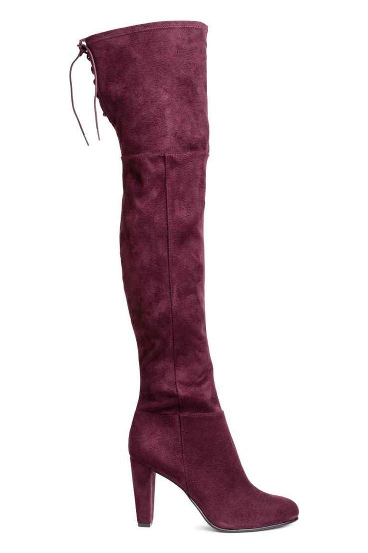 Сапоги до колена - Сливовый - Женщины | H&M RU