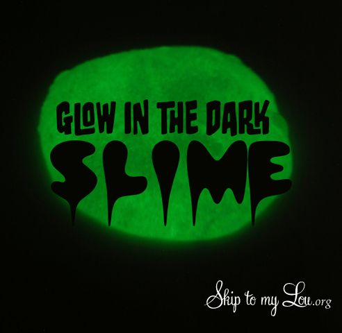 Glow in the dark slime is the perfect cool and creepy Halloween activity. The best part it is borax free! So this slime is safe to make. If you don't need your slime to glow I have another borax free slime recipe you will want to try! I can't believe all the different types of slime there are. Have you heard of mood slime? How about magnetic slime and spaghetti...