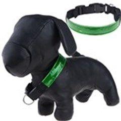 High Visibility Flash LED Light Reflective Dog Necklet Safety Pet Necklet Neck Chain
