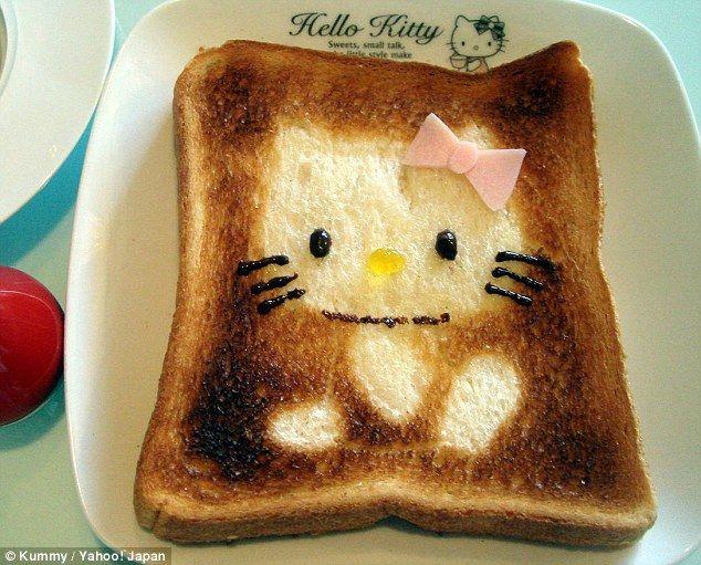 Hello Kitty toast art