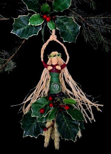 Pagan Wiccan Spiral Yule Goddess. Handcrafted Altar Figure.Tree Topper