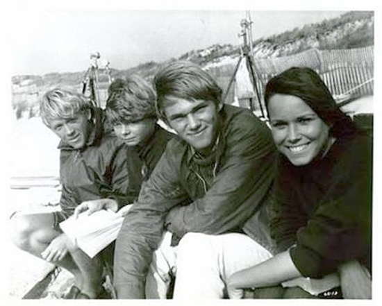 Bruce Davison, Catherine Burns, Richard Thomas & Barbara Hershey in Last Summer (1969)
