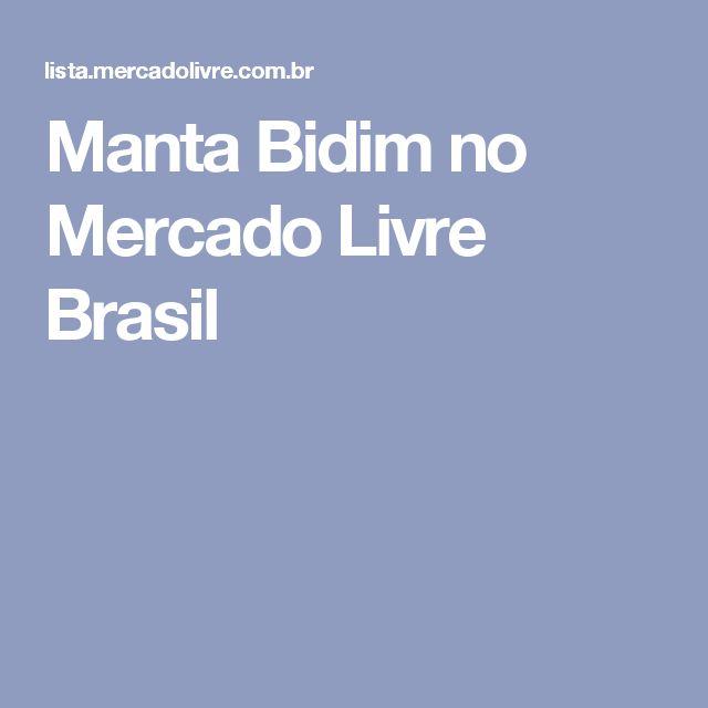 Manta Bidim no Mercado Livre Brasil