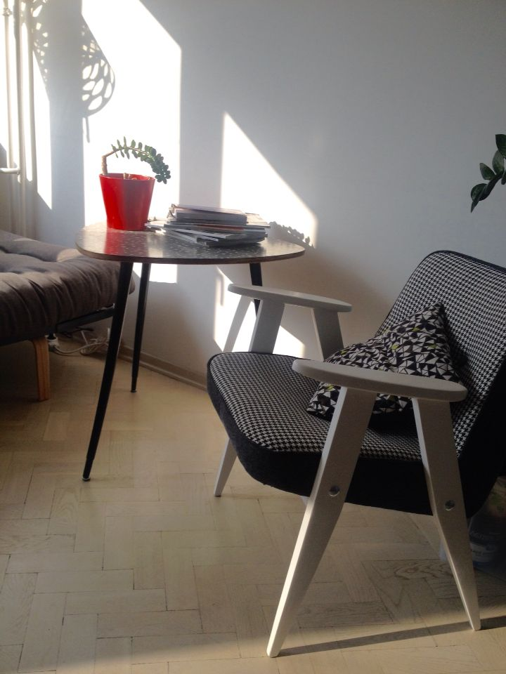 Chair by Józef Chierowski and small table :) still in progress