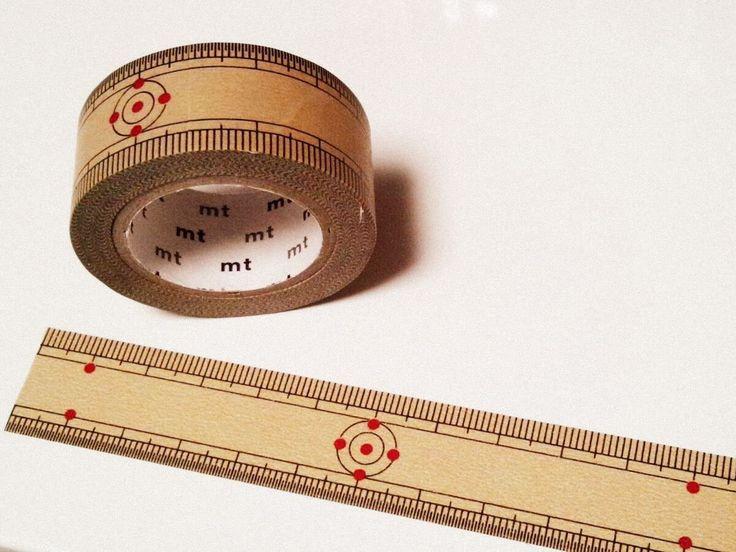 その発想はなかったわ! 竹定規がデザインされたマスキングテープ「mt ex竹定規」が便利そう