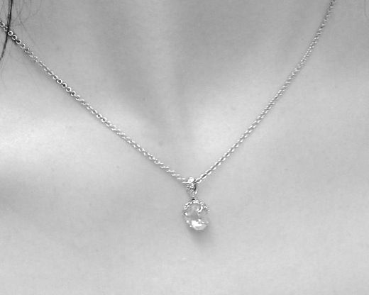 Simple Bridal Jewelry Ditrchampagnebubble Necklace Clic Wedding Pinterest And