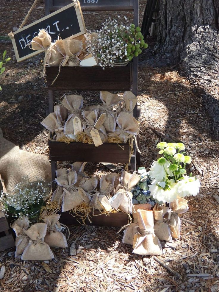 Farm Party Favours - Hessian Candy Bags styled by Sweet Soirees (www.sweet-soirees.com.au)