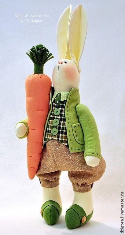 Джентльмен с морковкой - кролик,весенний кролик,игрушка кролик,игрушка зайка