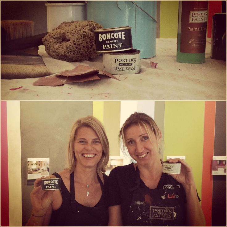 They're so cute!! Our lovely crew at Porter's Paints Waterloo with vintage Porter's