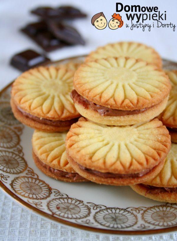 Kruche ciasteczka z masą czekoladową - Domowe Wypieki