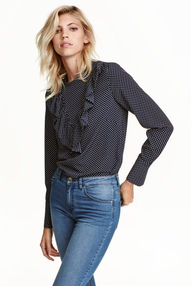 Frilled blouse 19,99 €| H&M