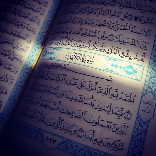 Don't forget to recite Surat Al-Kahf today, it's Friday.... And Sallo 3la el-naby BTW :)