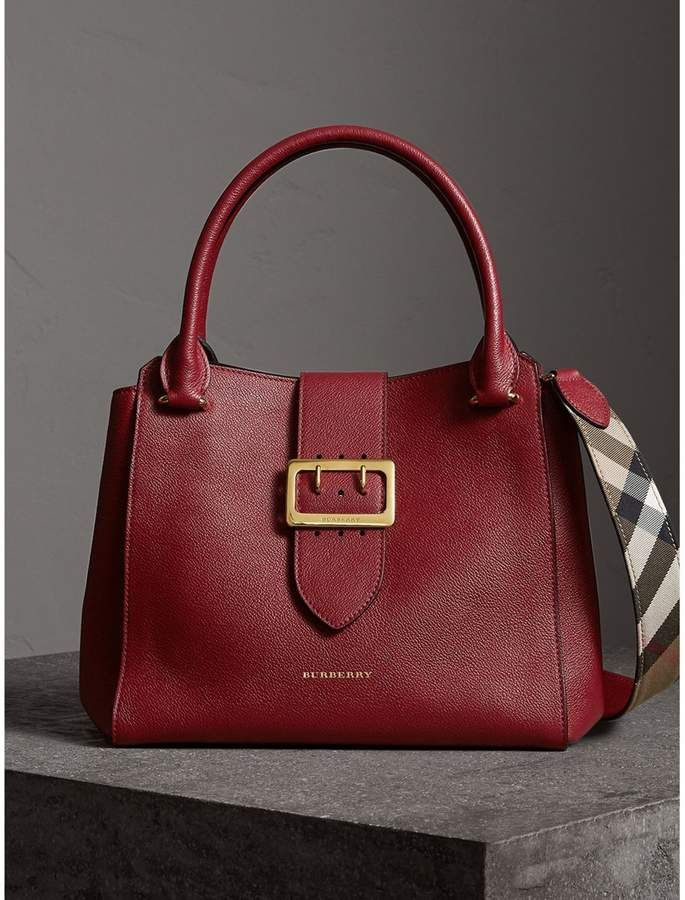 1c31fa82ca34 Burberry The Medium Buckle Tote in Grainy Leather