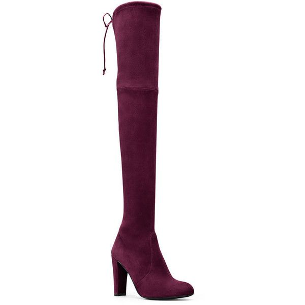 Stuart Weitzman HIGHLAND (17888540 BYR) via Polyvore featuring shoes, boots,  over the