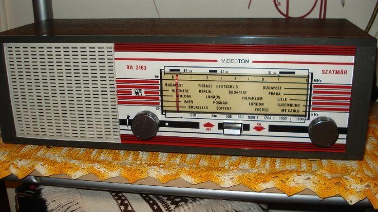 VIDEOTON Tube Radio Szatmar 1972 Vintage AM Radio recevier   2016 oktober Sajgo Radio  Hungary