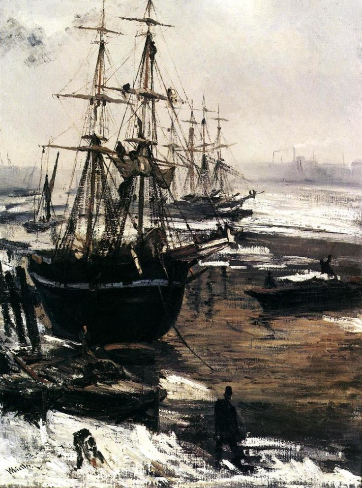 Джеймс Уистлер «Темза в снегу»