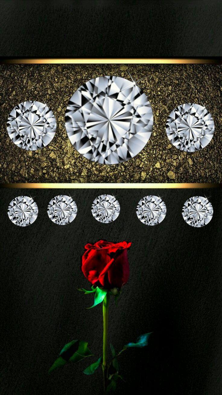 Regal Elegant Diamond Gold Rose Dark IPhone Wallpaper