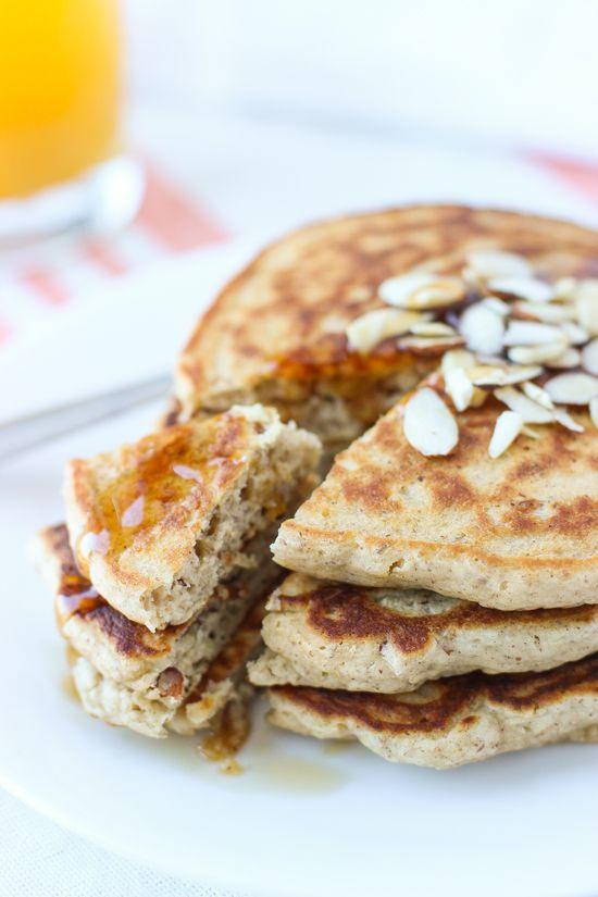 Honey Almond Crunch Pancakes