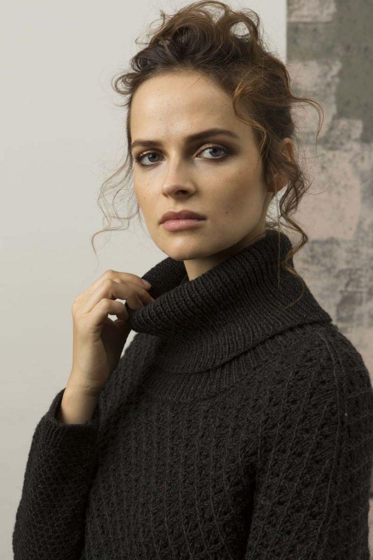 ассиметричный свитер со спущенным плечом Diy вязание вторая