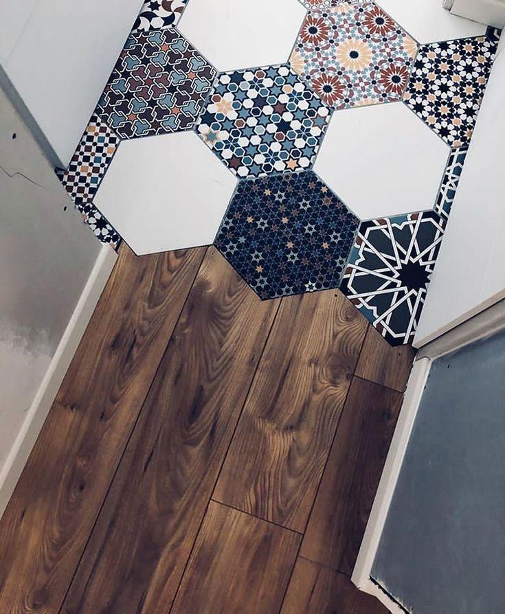 ~ Funky ~ Tile ~ Boho ~ Bathroom ~ Home Decor ~