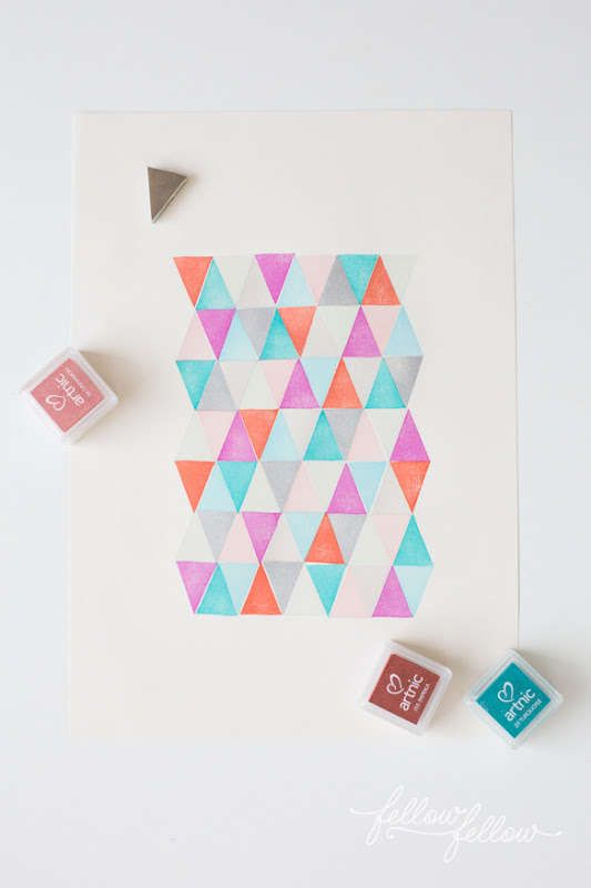 DIY Stamped Geometric Decals