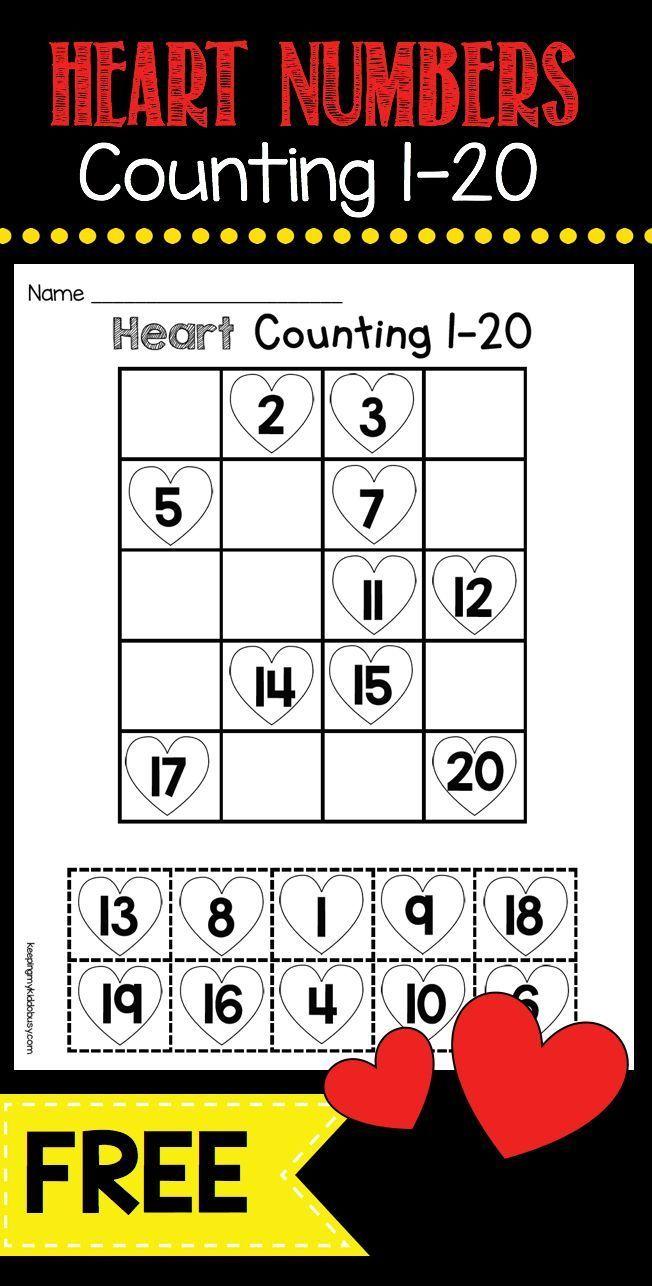 Freebie Practice Ordering Numbers 1 20 With This Free Math Worksheet Perfect Kindergarten Math Center F February Math Math Valentines Kindergarten Valentines [ 1286 x 652 Pixel ]