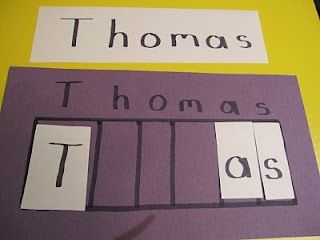 Learning to spell names. preschool-crafts