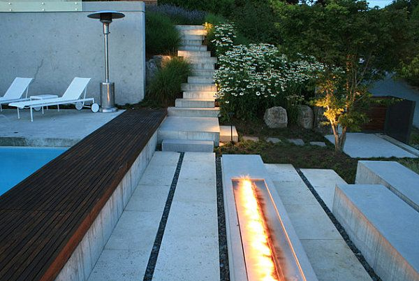 Feuerstelle Offen Tipps Modernes Garten Design | Garten ... Wirkungsvolle Feuerstelle Poolbereich