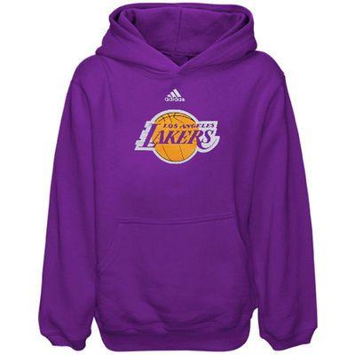 adidas Los Angeles Lakers Preschool Primary Logo Pullover Hoodie - Purple