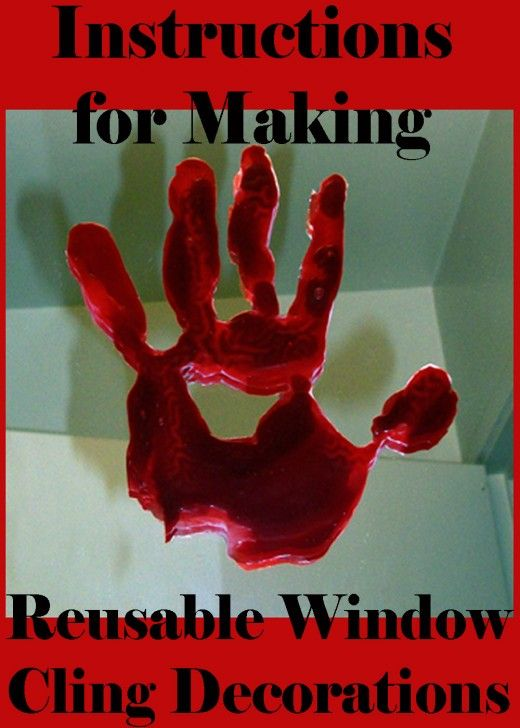 Learn how to make bloody hand print decorations with these step-by-step instructions with photos.