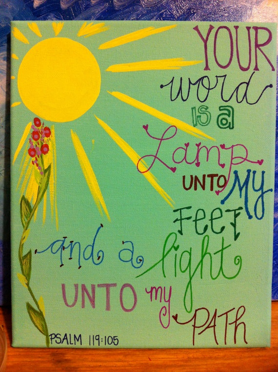 Psalm 119:105 Painting for Sale, Click on picture