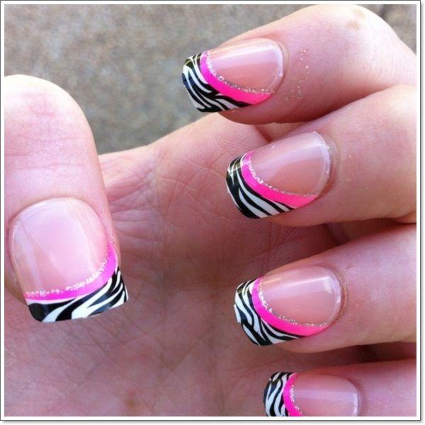 25+ Beautiful Pink Zebra Nails Ideas On Pinterest