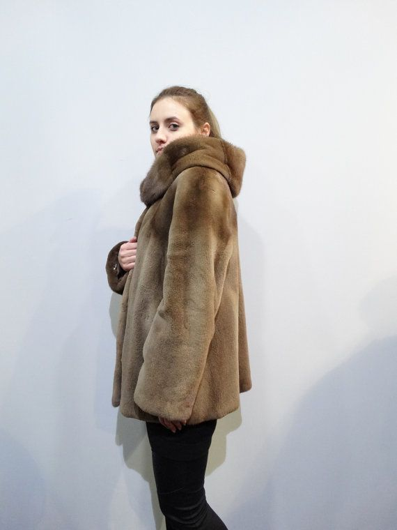 Real Mink FurFur Coat HoodSheared Fur CoatWoman by FilimegasFurs