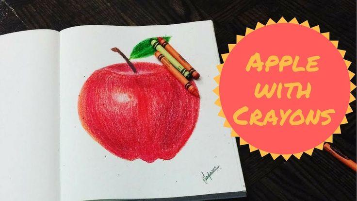 How I drew an Apple | Crayon Art