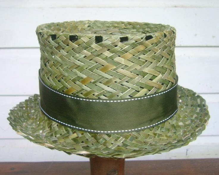 Rustic Flax Top Hat. $70.00, via Etsy.