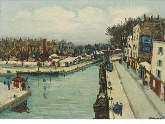 Alphonse Quizet, Canal de l'Ourcq, Paris