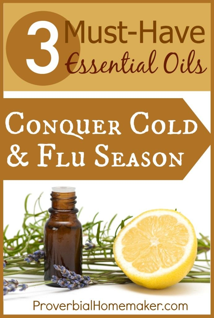3 Must-Have Essential Oils for Cold and Flu Season: If you only buy three, buy these! Versatile, cost-effective, and powerful oils for your medicine cabinet. From ProverbialHomemaker.com
