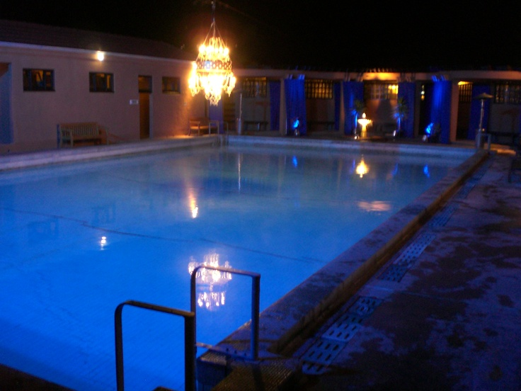 Lighting over the Outside Pool