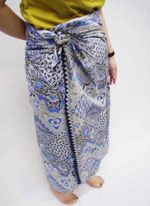 サロンで巻きスカート(インドネシア風)