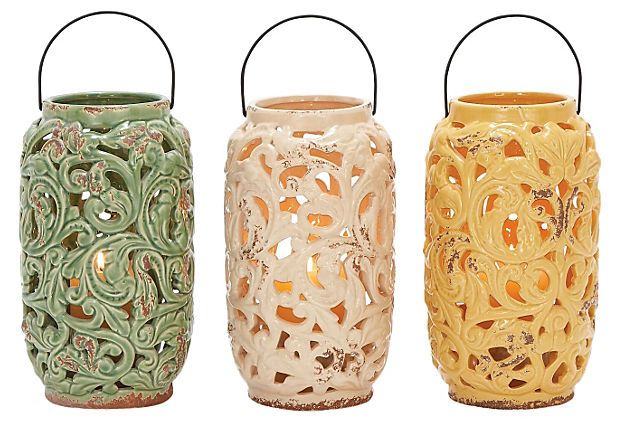 """12"""" Zest Lanterns, Asst. of 3 on OneKingsLane.com"""