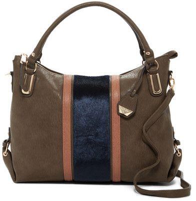 Jessica Simpson Claireen Faux Fur Detail Tote Bag