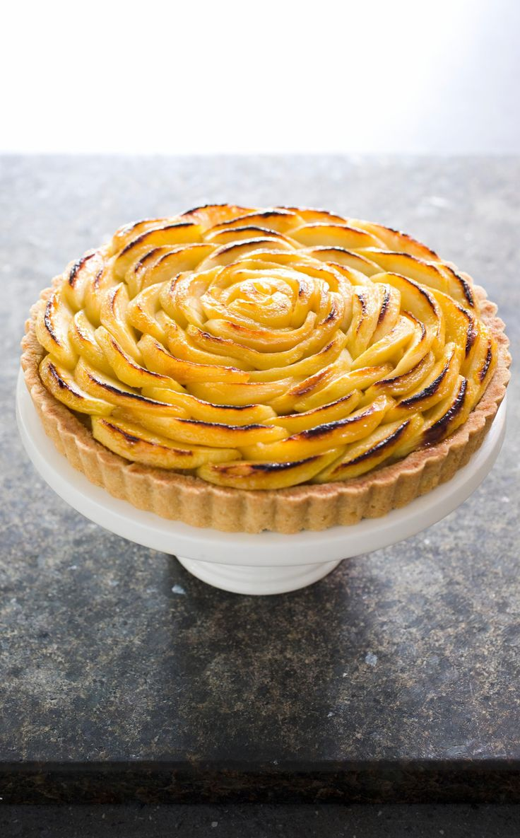 French Apple Tart. This holiday table show-stopper isn't just looks—we pack the tart with a whopping 5 pounds of Golden Delicious apples for intense fruit flavor.