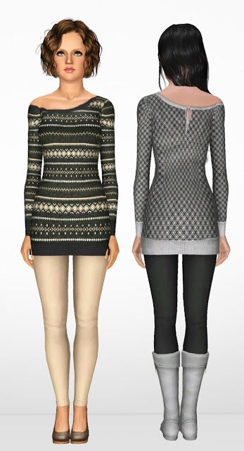 #Sims3 Off Shoulder Sweater Dress (With Bonus) ~ NyGirl Sims dope Use