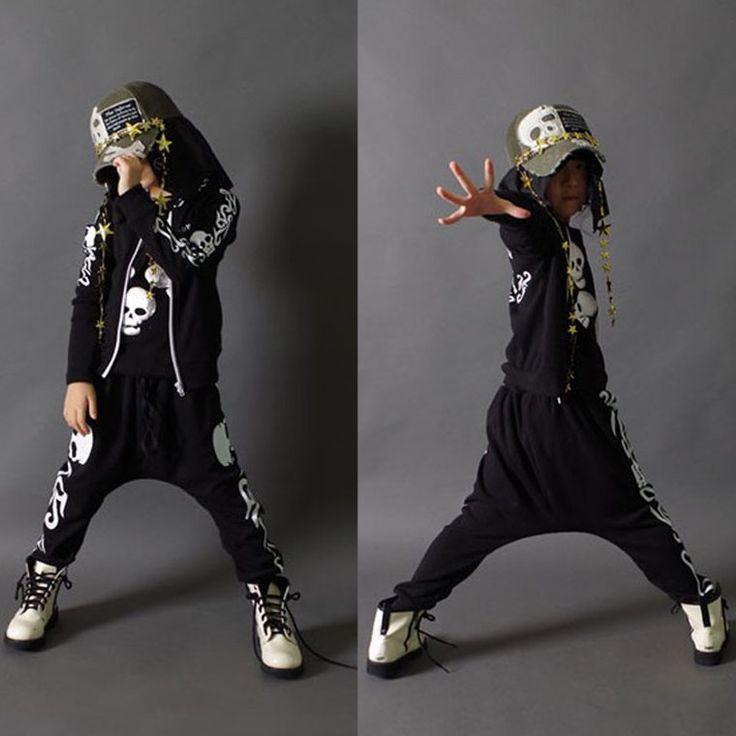 2015 neue mode frühjahr herbst kinder kleidung gesetzt kostüme sweatshirt schädel Hip-Hop pluderhosen kinder sportbekleidung(China (Mainland))