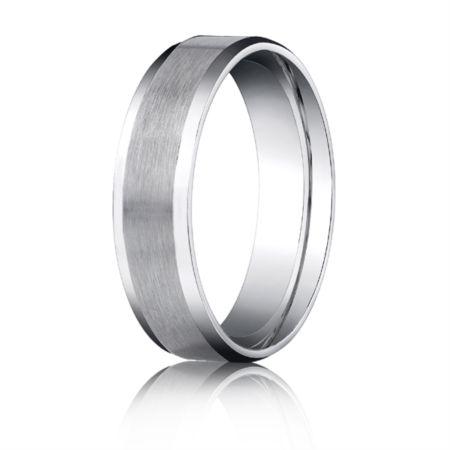 Palladium 6mm Beveled Edge Comfort Fit Men S Women Wedding Bands