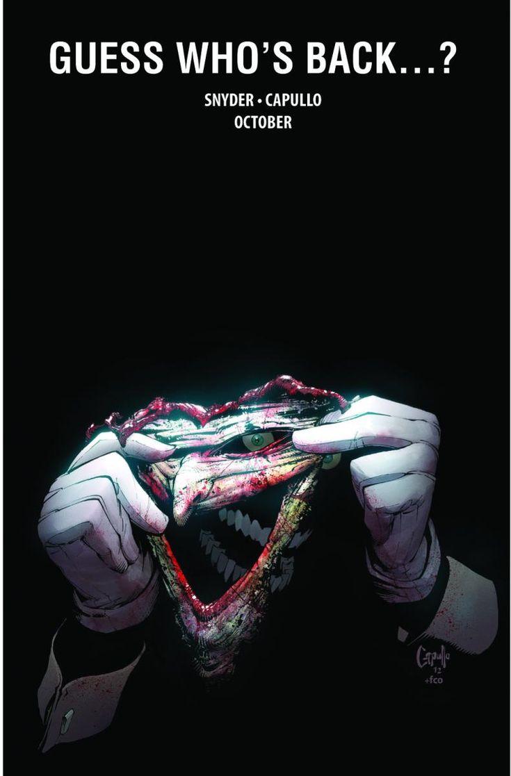 Scott Snyder writing the Joker.  I can't wait.