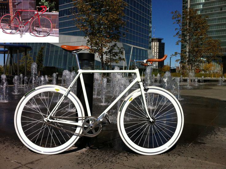 Construcción de una bicicleta de piñón fijo desde sus orígenes más humildes